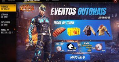 NOVO EVENTO DE OUTONO NO FREE FIRE
