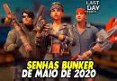 SENHAS BUNKER DE MAIO DE 2020 – Last Day On Earth