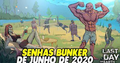 SENHAS BUNKER DE JUNHO DE 2020 – Last Day On Earth
