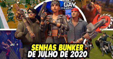 SENHAS BUNKER DE JULHO DE 2020 – Last Day On Earth