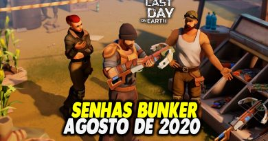 SENHAS BUNKER DE AGOSTO DE 2020 – Last Day On Earth