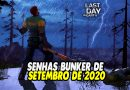 SENHAS BUNKER DE SETEMBRO DE 2020 – Last Day On Earth