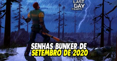 SENHAS BUNKER DE SETEMBRO DE 2020 – Last Day On Earth