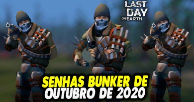 SENHAS BUNKER DE OUTUBRO DE 2020 – Last Day On Earth