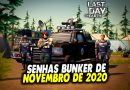 SENHAS BUNKER DE NOVEMBRO DE 2020 – Last Day On Earth