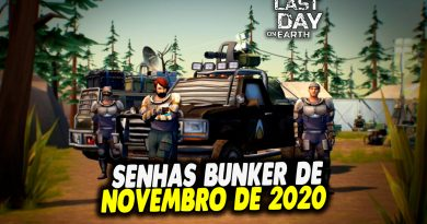 SENHAS BUNKER DE NOVEMBRO DE 2020 – Last Day On Earth
