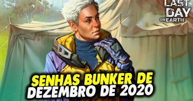 SENHAS BUNKER DE DEZEMBRO DE 2020 – Last Day On Earth