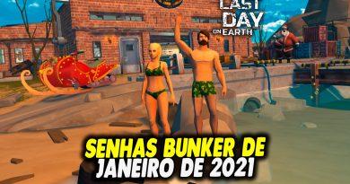 SENHAS BUNKER DE JANEIRO DE 2021 – Last Day On Earth