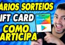 COMO PARTICIPA DE VÁRIOS SORTEIOS GIFT CARD GOOGLE PLAY