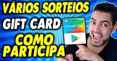 NOVO SORTEIO DE VÁRIOS GIFT CARD GOOGLE PLAY