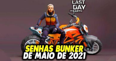 SENHAS BUNKER DE MAIO DE 2021 – Last Day On Earth