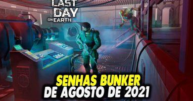 SENHAS BUNKER DE AGOSTO DE 2021 – Last Day On Earth