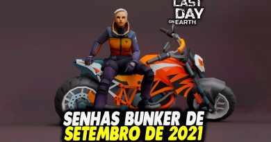 SENHAS BUNKER DE SETEMBRO DE 2021 – Last Day On Earth